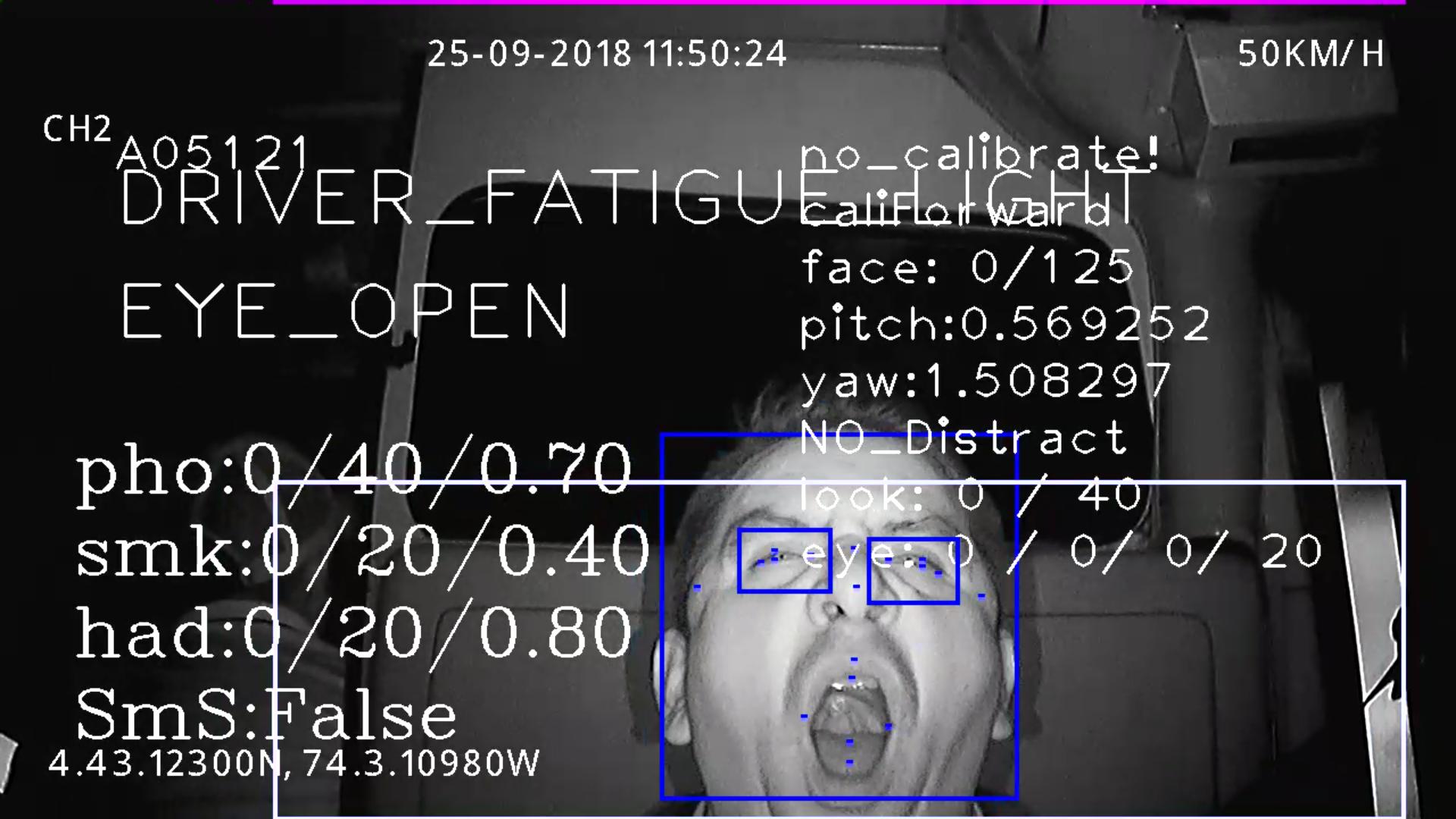 Sistema AI (Detección de Fatiga, Detección de posible colisión)